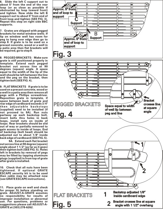 Adjusting Instructions Page 2