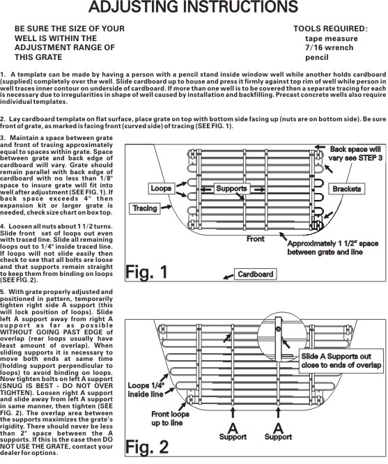 Adjusting Instructions Page 1